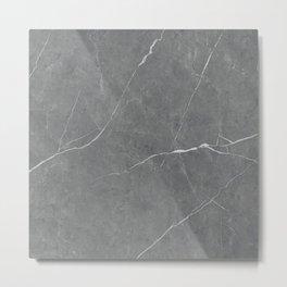 Stone Gray Marble Metal Print