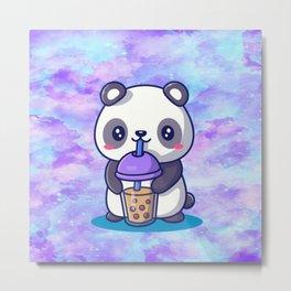 Boba Panda Metal Print