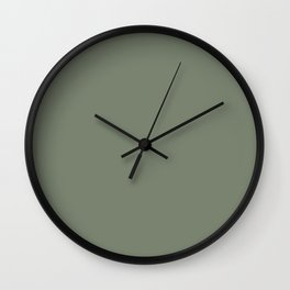 Mellow Earth Green Pairs with Magnolia Paints Olive Grove JG-09 Wall Clock