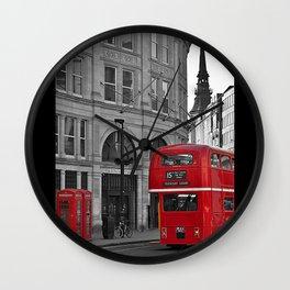 London Bus & Telephone Boxes. Wall Clock