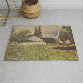 Georges Seurat - House among Trees Rug