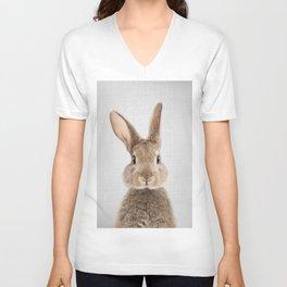 Rabbit - Colorful Unisex V-Ausschnitt