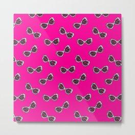 Diva Sunglasses-Pink Metal Print