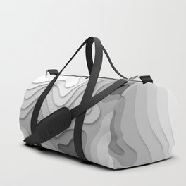 White Topographic Map Duffle Bag