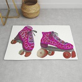 Pink Spotted Roller Skates Rug