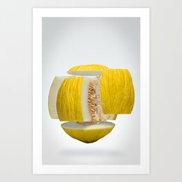 Flying Casaba Melon Art Print
