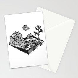 """Geometric Ridge"" Hand-Drawn by Dark  Mountain  Arts Stationery Cards"
