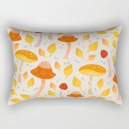 Mushrooms - orange and yellow Rectangular Pillow