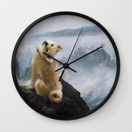 The Wanderer Above the Sea of Doge Wall Clock