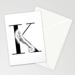 Mermaid Alphabet - K Stationery Cards