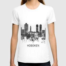 Hoboken New Jersey Skyline BW T-shirt