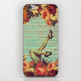 On a Bed of Roses iPhone Skin