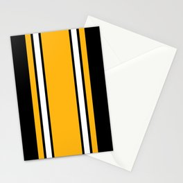 Pittsburgh Black And Yellow Abstract Stationery Cards