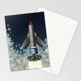 Thunderbird 1 Space Rocket Launch Stationery Cards