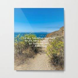 Rockaway Beach, Pacifica California Photo, California Coast with John Muir Quote by Christie Olstad Metal Print