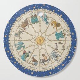Vintage Astrology Zodiac Wheel Cutting Board