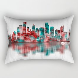 Minneapolis Minnesota Skyline Rectangular Pillow