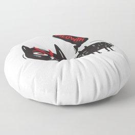 Fun Spooky Black Cat Meowth Halloween DIY Costume Men Women Floor Pillow