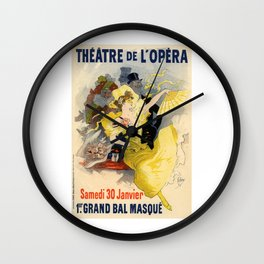Belle Epoque vintage poster, French Theater, Theatre de L'Opera Wall Clock