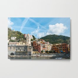 Cinque Terre, Vernazza Village   Mediterranean Coast, Italy   Pastel colorful travel photography in Europe   Art Print Metal Print