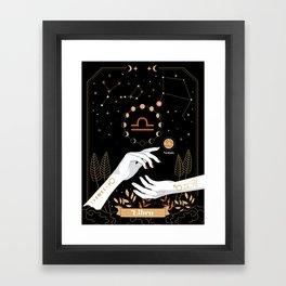 Libra Zodiac Theme Framed Art Print
