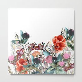 Floral illustration with field flowers  in vintage style Metal Print
