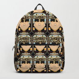 Ice Hockey Black and Yellow - Faceov Puckslapper - Victor version Backpack