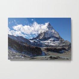 Matterhorn Cervin Mount Landscape in Switzerland Metal Print