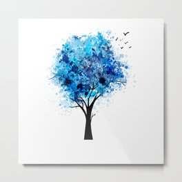 Tree Painter funny gift for creative person  Metal Print