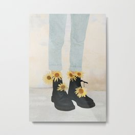 My Boots Metal Print