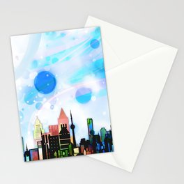 Bright Architecture and Snowflakes Stationery Cards