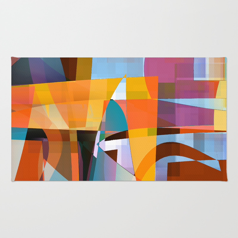 Series Of Actions 2a Rug by Davidmarklane RUG7756721