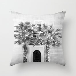 "Travel photography print ""Magical Marrakech"" photo art made in Morocco. Black and white. Throw Pillow"