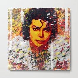 M Jackson | Pop art portrait | Old school collection Metal Print