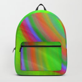 Hot volumetric semicircles with a crisp green accent and all the colors of the rainbow.  Backpack