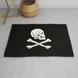 Henry Every Pirate Flag - Jolly Roger Skull Rug