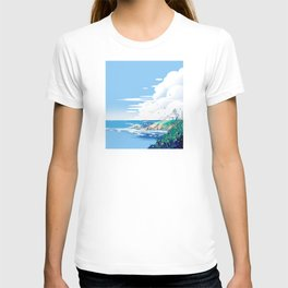 The end of the north, the thoughts are far away in the sea T-shirt