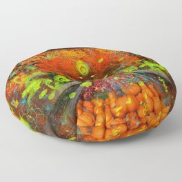 Magical Autumn Rain (psychedelic) Floor Pillow