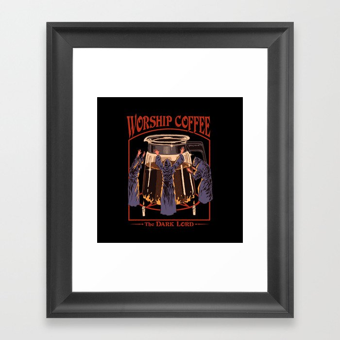 Worship Coffee Gerahmter Kunstdruck