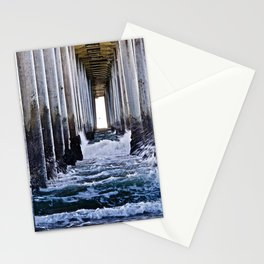 Abstract Low Tide Under Huntington Beach Pier Stationery Cards