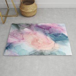Dark and Pastel Ethereal- Original Fluid Art Painting Rug