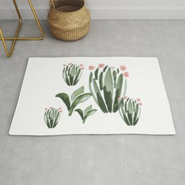 A Cluster of Desert Plants Rug