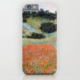 Poppy Field in a Hollow near Giverny by Claude Monet iPhone Case