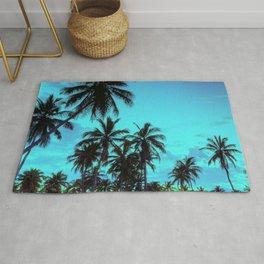 Beatiful Palm Tree Sunset - Hawaii Islands Rug