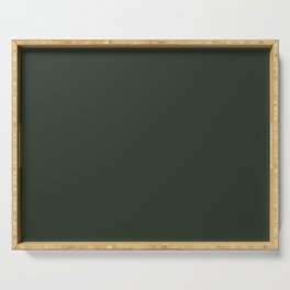 Pray for Snow Forest Green Serving Tray