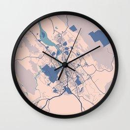 Launceston - Australia Breezy City Map Wall Clock
