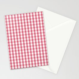 Nantucket Red Gingham Check Plaid Pattern Stationery Cards