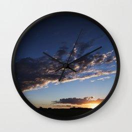 Rural Sunset 5 Wall Clock