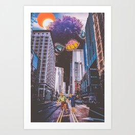 Peaches Takes the City Over Art Print