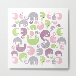 Elephant Stomp Metal Print